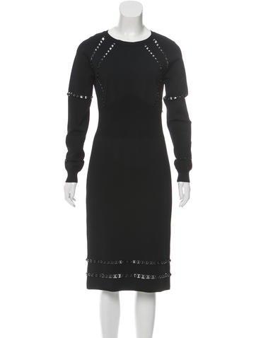 Bottega Veneta Silk Embellished Dress None