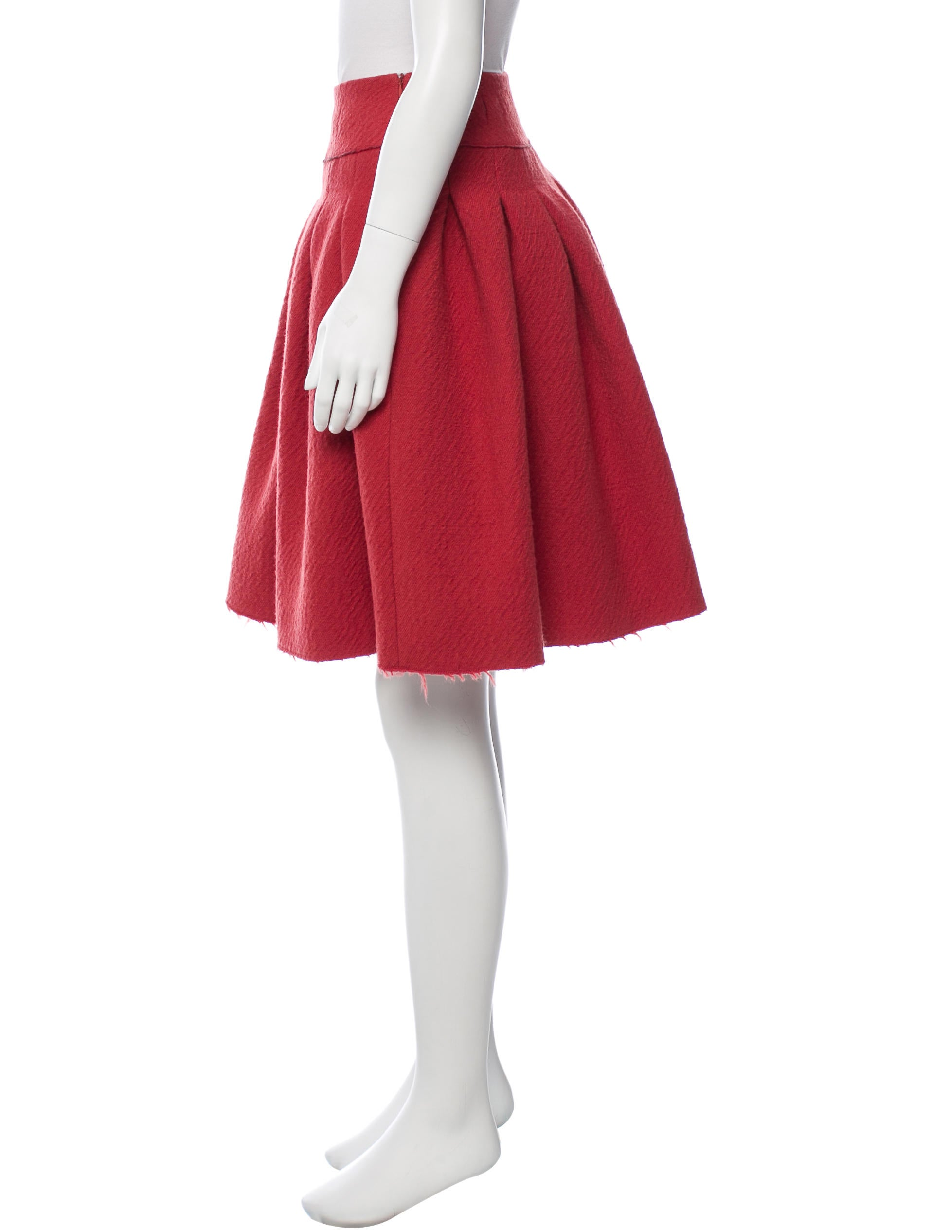 bottega veneta wool a line skirt clothing bot42098