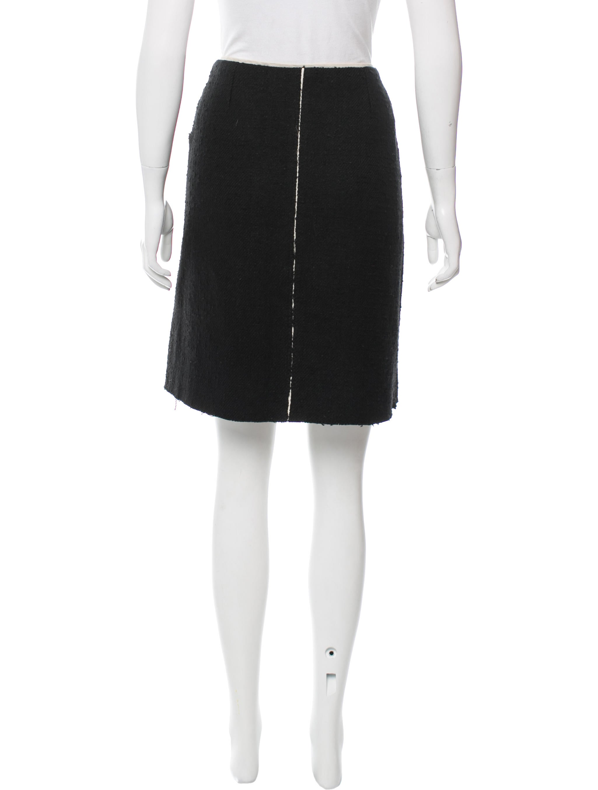 bottega veneta pleated tweed skirt clothing bot42384
