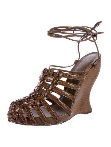 top quality for sale visit new sale online Bottega Veneta Cage Wedge Sandals looking for for sale buy cheap wide range of clearance perfect pRlFdA2hQP