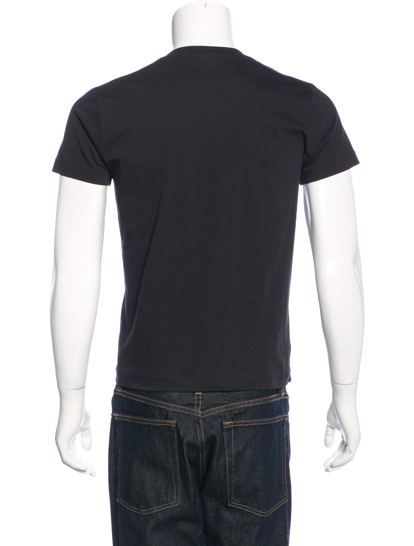 Bottega veneta mesh trimmed v neck t shirt clothing for Bottega veneta t shirt