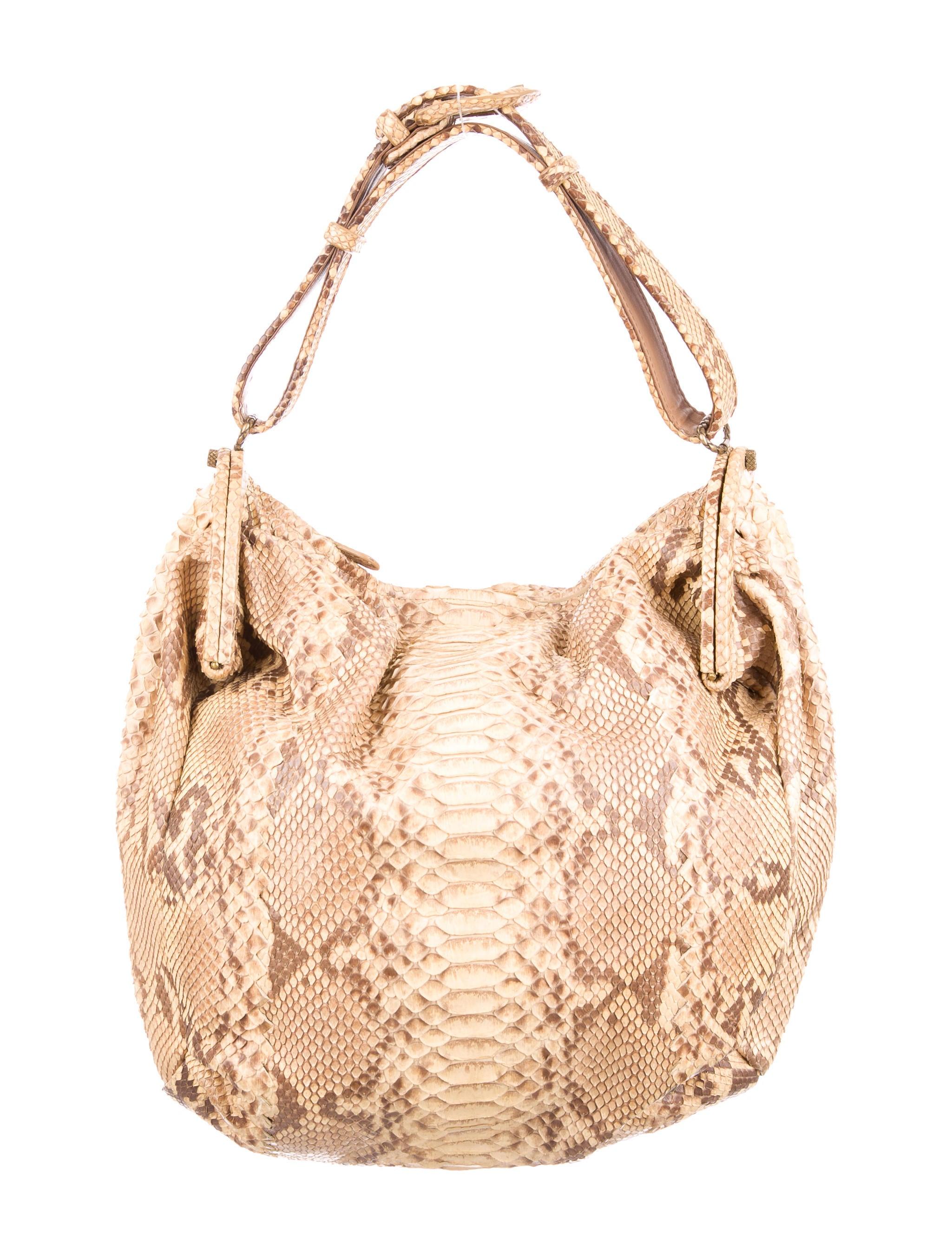 e2b35df558a Bottega Veneta Duette Python Bag - Handbags - BOT42585   The RealReal
