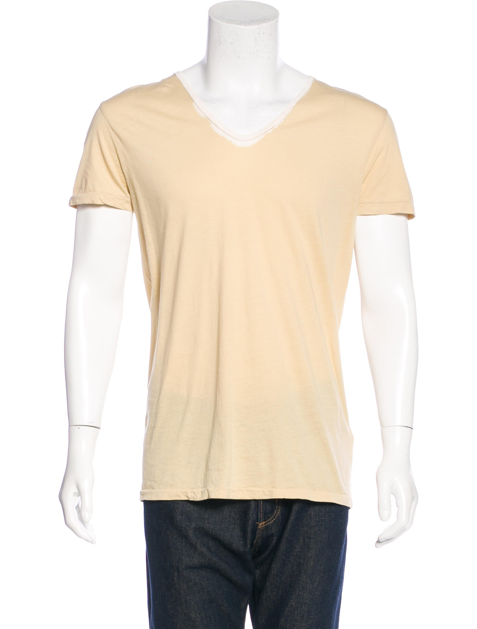 Bottega veneta v neck woven t shirt clothing bot42683 for Bottega veneta t shirt