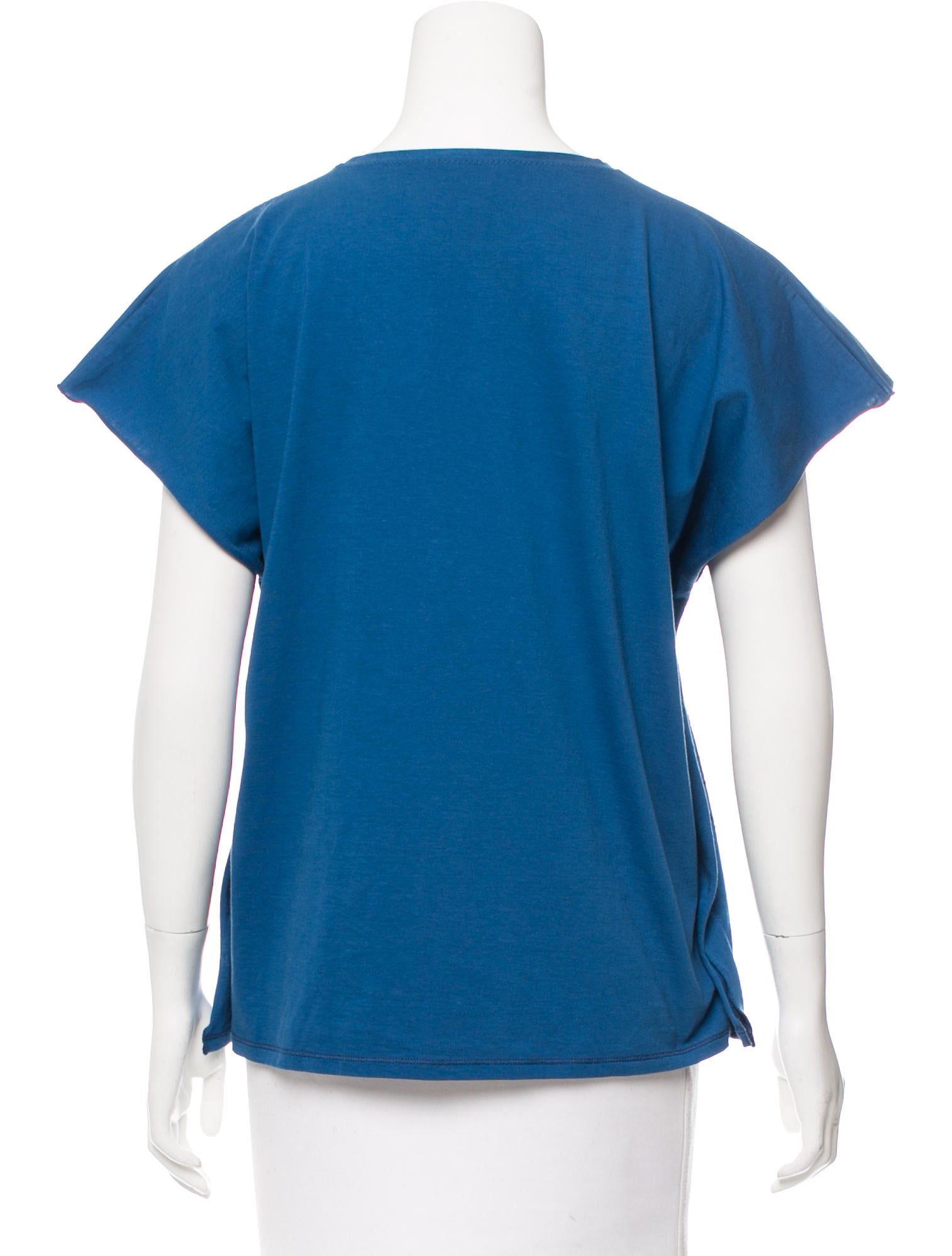 Bottega veneta cap sleeve printed t shirt clothing for Bottega veneta t shirt