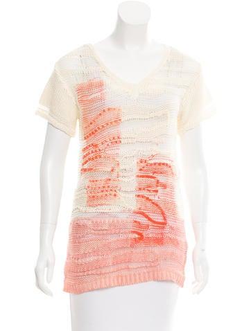 Bottega Veneta Silk Open-Knit Top None