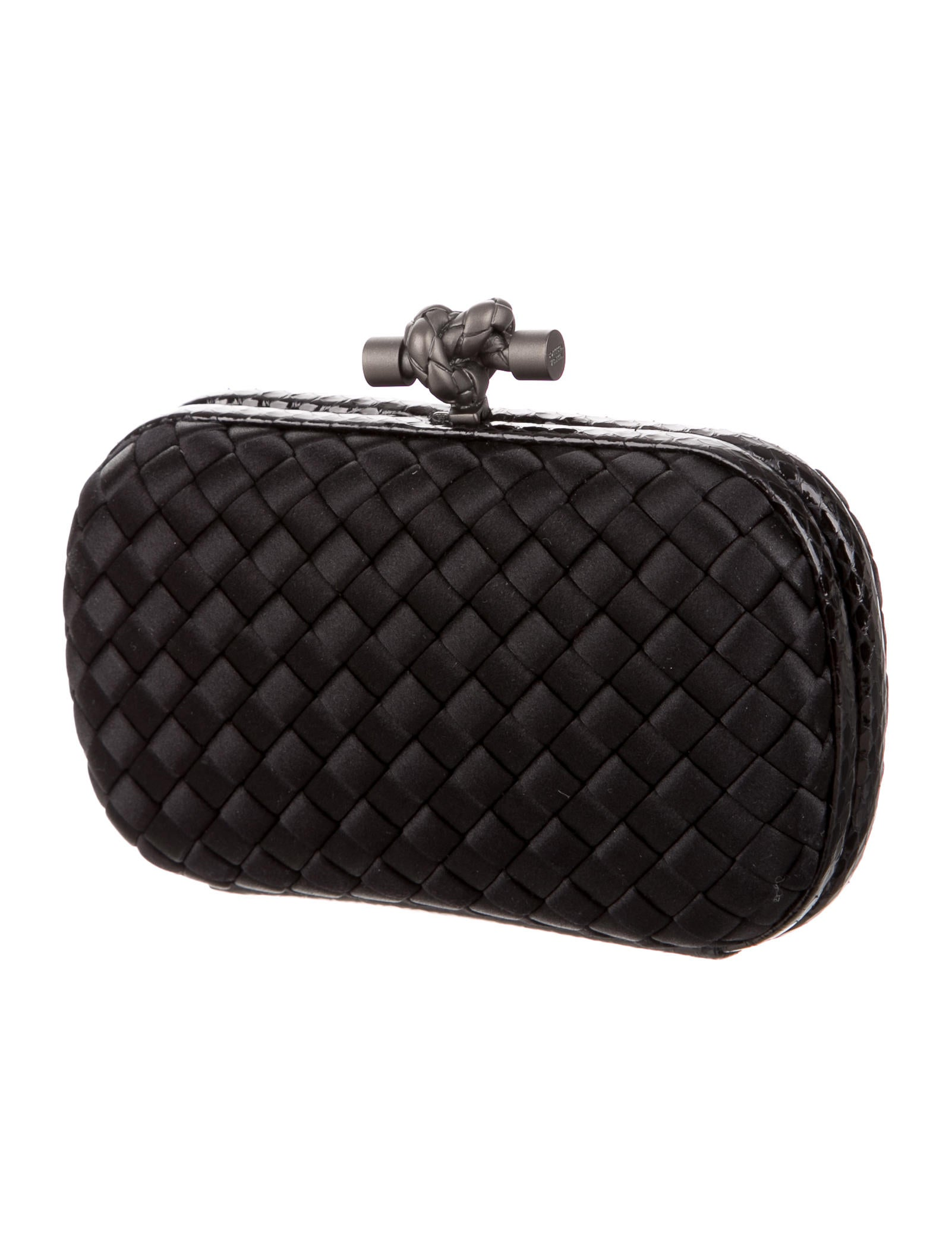 bottega veneta intrecciato knot clutch handbags bot43562 the realreal. Black Bedroom Furniture Sets. Home Design Ideas