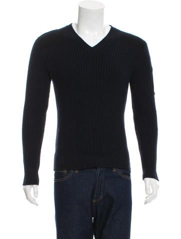 Bottega Veneta Rib Knit V-Neck Sweater None