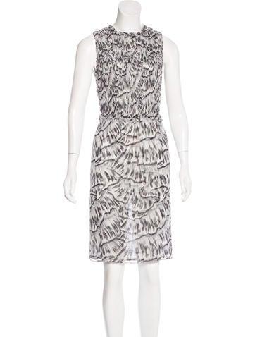 Bottega Veneta Ruched Silk Dress None