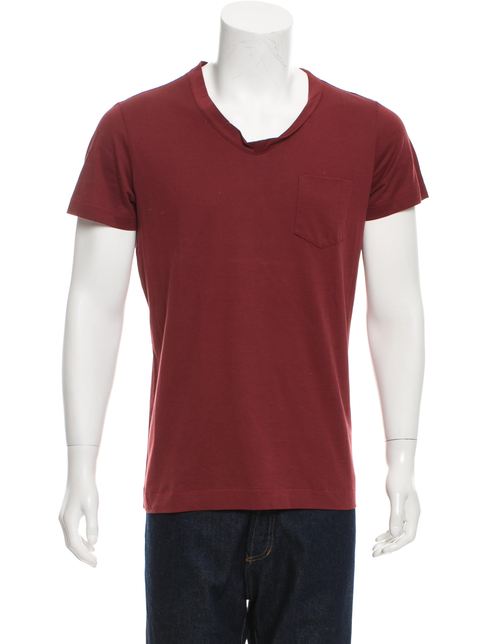Bottega veneta scoop neck pocket t shirt clothing for Bottega veneta t shirt