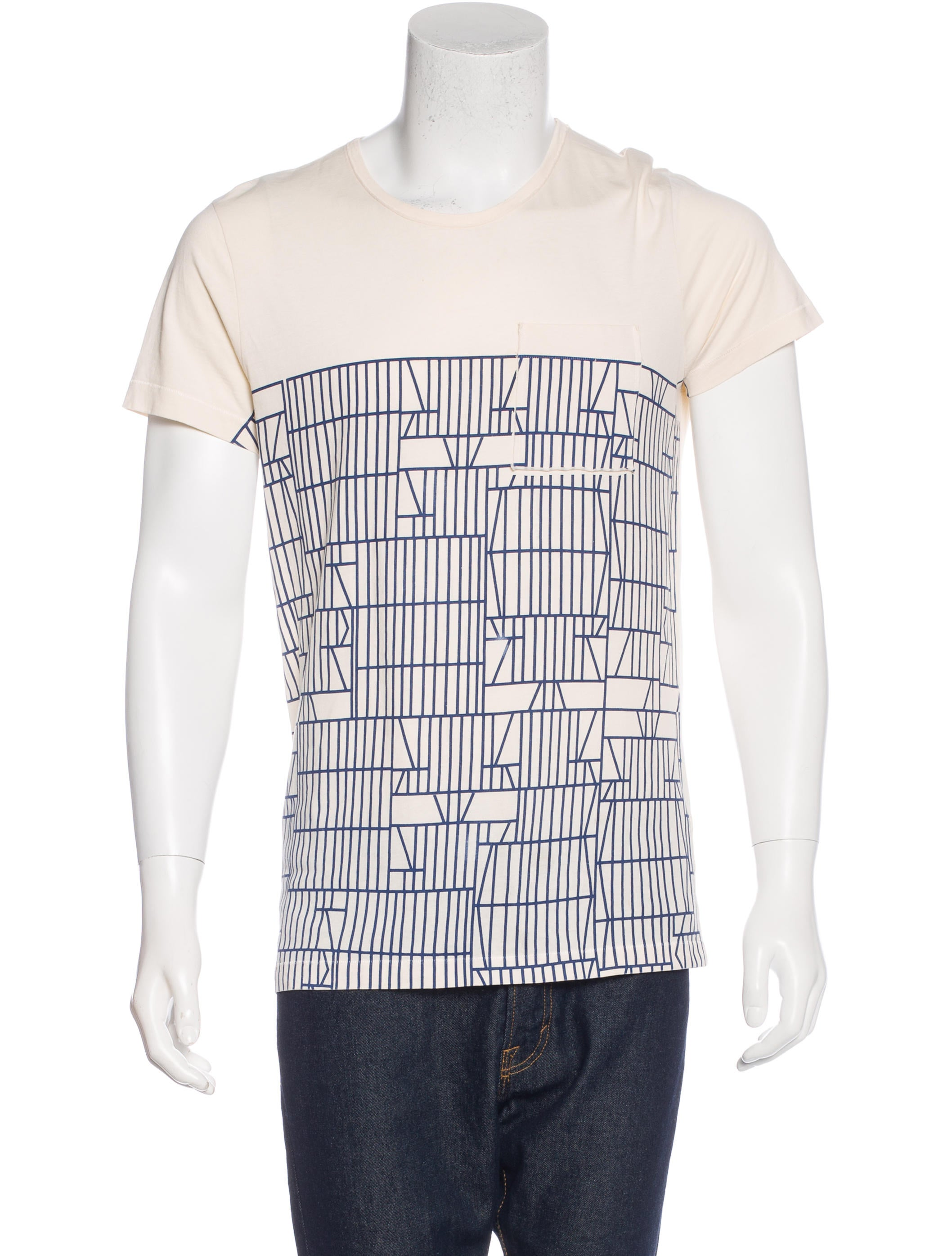 Bottega veneta geometric print t shirt clothing for Bottega veneta t shirt