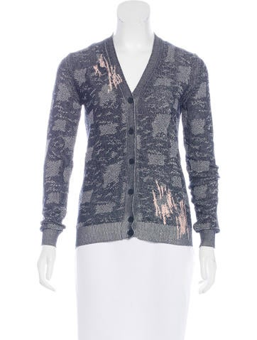 Bottega Veneta Embroidered Knit Cardigan None