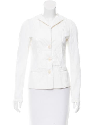 Bottega Veneta Ribbed Notch-Lapel Jacket None