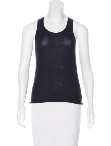 Bottega Veneta Cashmere Sleeveless Top None