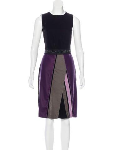 Bottega Veneta Velvet Embellished Dress None