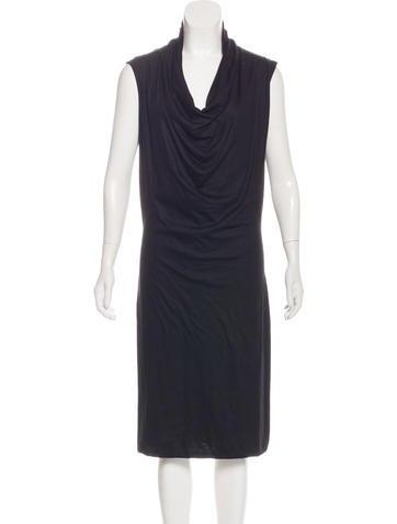 Bottega Veneta Cashmere Midi Dress None