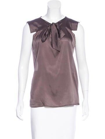 Bottega Veneta Silk Sleeveless Top None
