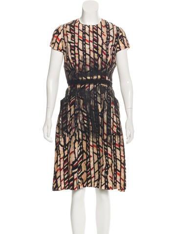 Bottega Veneta Silk Printed Dress None