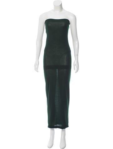 Bottega Veneta Wool Strapless Dress None