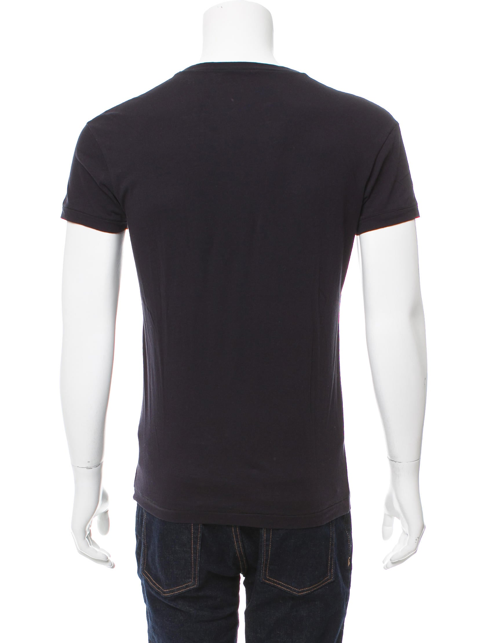 Bottega veneta contrast crew neck t shirt clothing for Bottega veneta t shirt