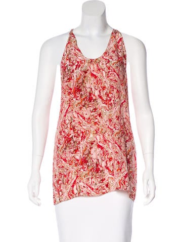 Bottega Veneta Sleeveless Printed Top None