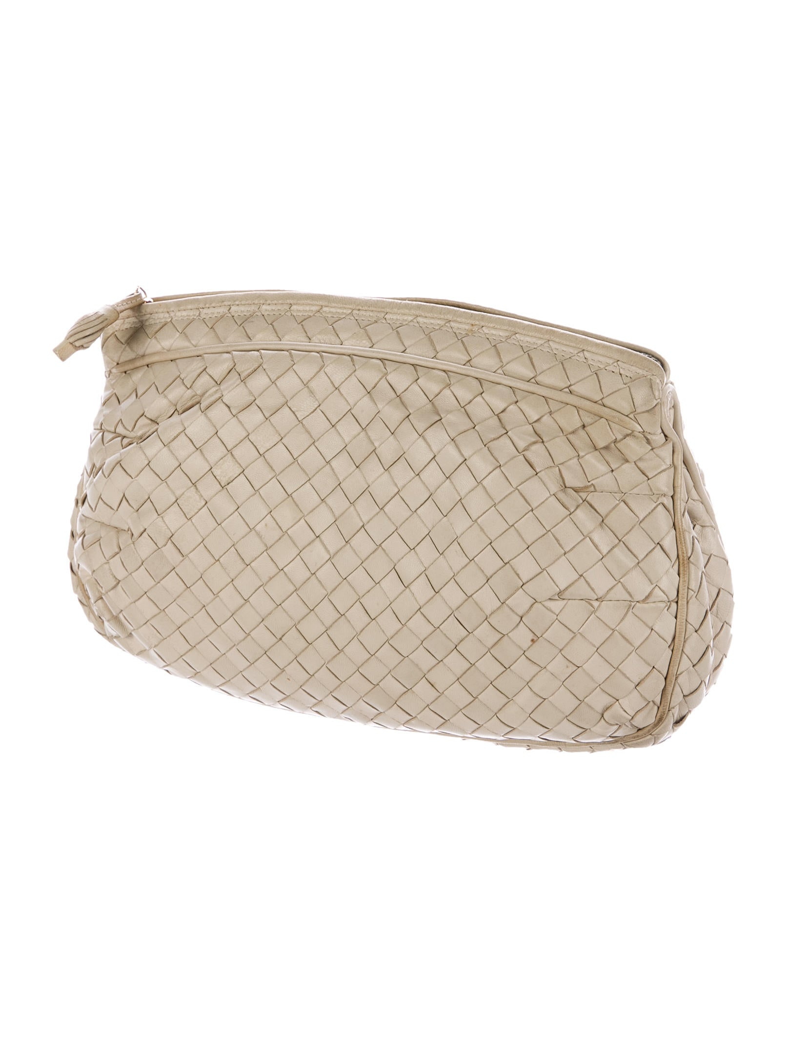 bottega veneta vintage intrecciato clutch handbags bot46916 the realreal. Black Bedroom Furniture Sets. Home Design Ideas