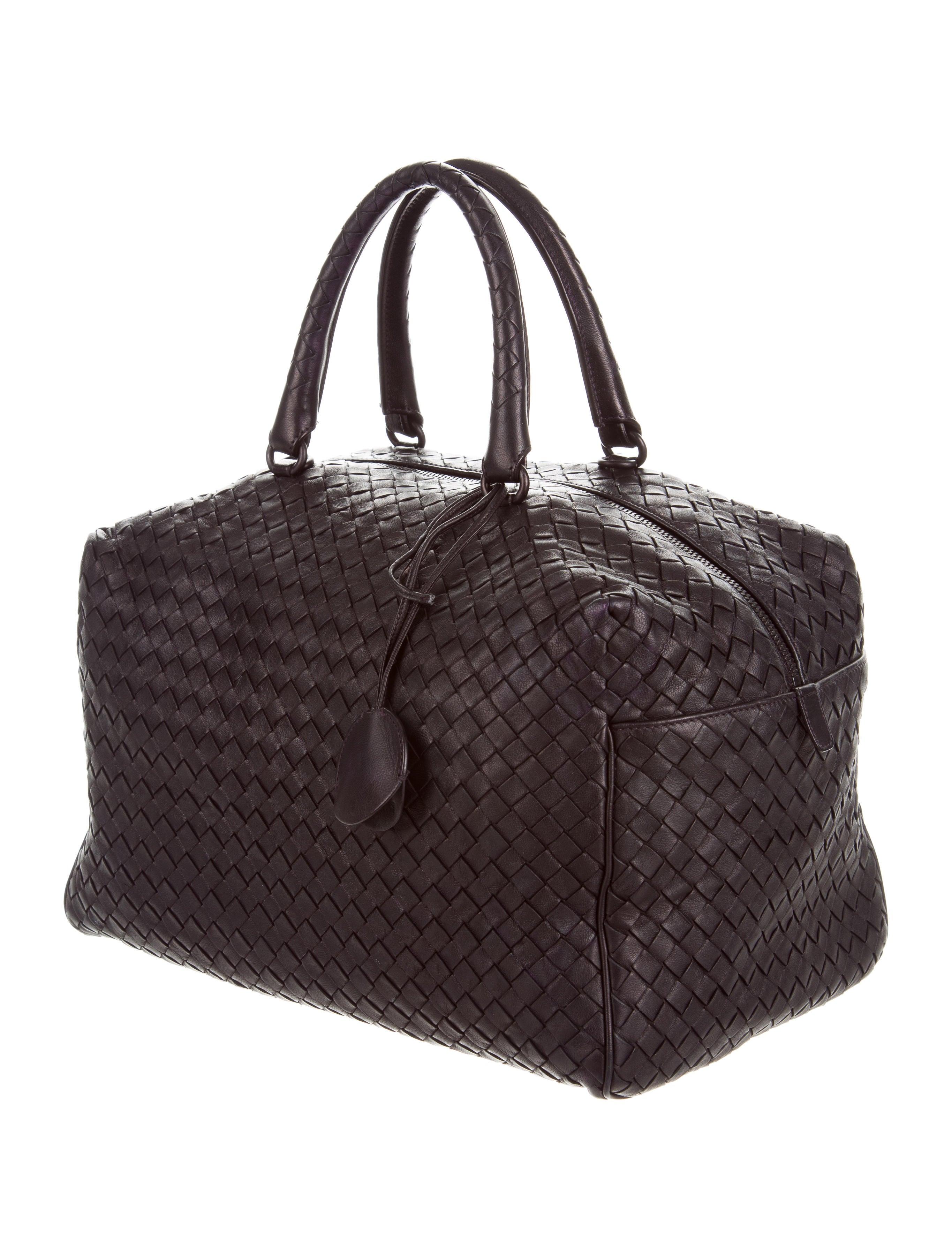 Boston Bag Patchwork Tutorial: Bottega Veneta Intrecciato Mini Boston Bag