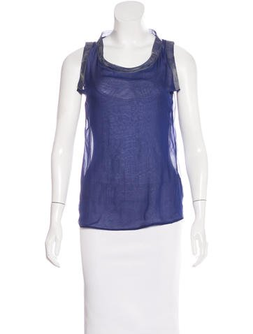 Bottega Veneta Sleeveless Silk Top w/ Tags None