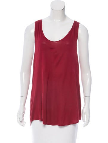 Bottega Veneta Scoop Neck Sleeveless Top None