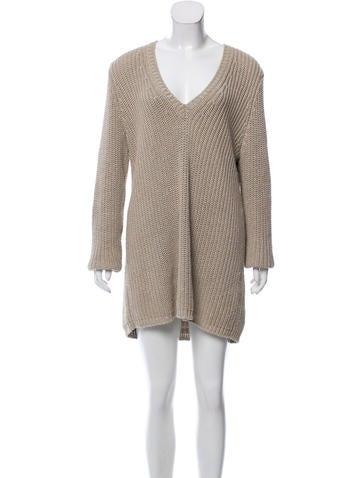 Bottega Veneta Metallic Sweater Dress None
