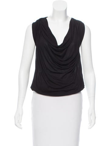 Bottega Veneta Sleeveless Cowl Neck Top None