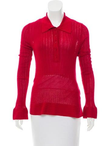 Bottega Veneta Knit Button-Up Top None