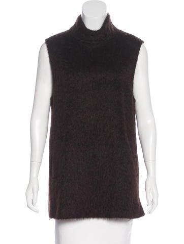 Bottega Veneta Alpaca & Wool Sleeveless Top None