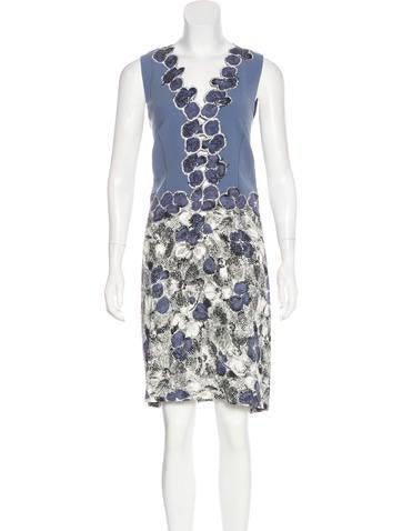 Bottega Veneta Sleeveless Silk Dress None