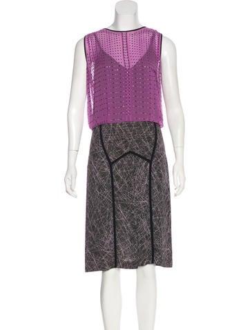 Bottega Veneta Embellished Silk Midi Dress None
