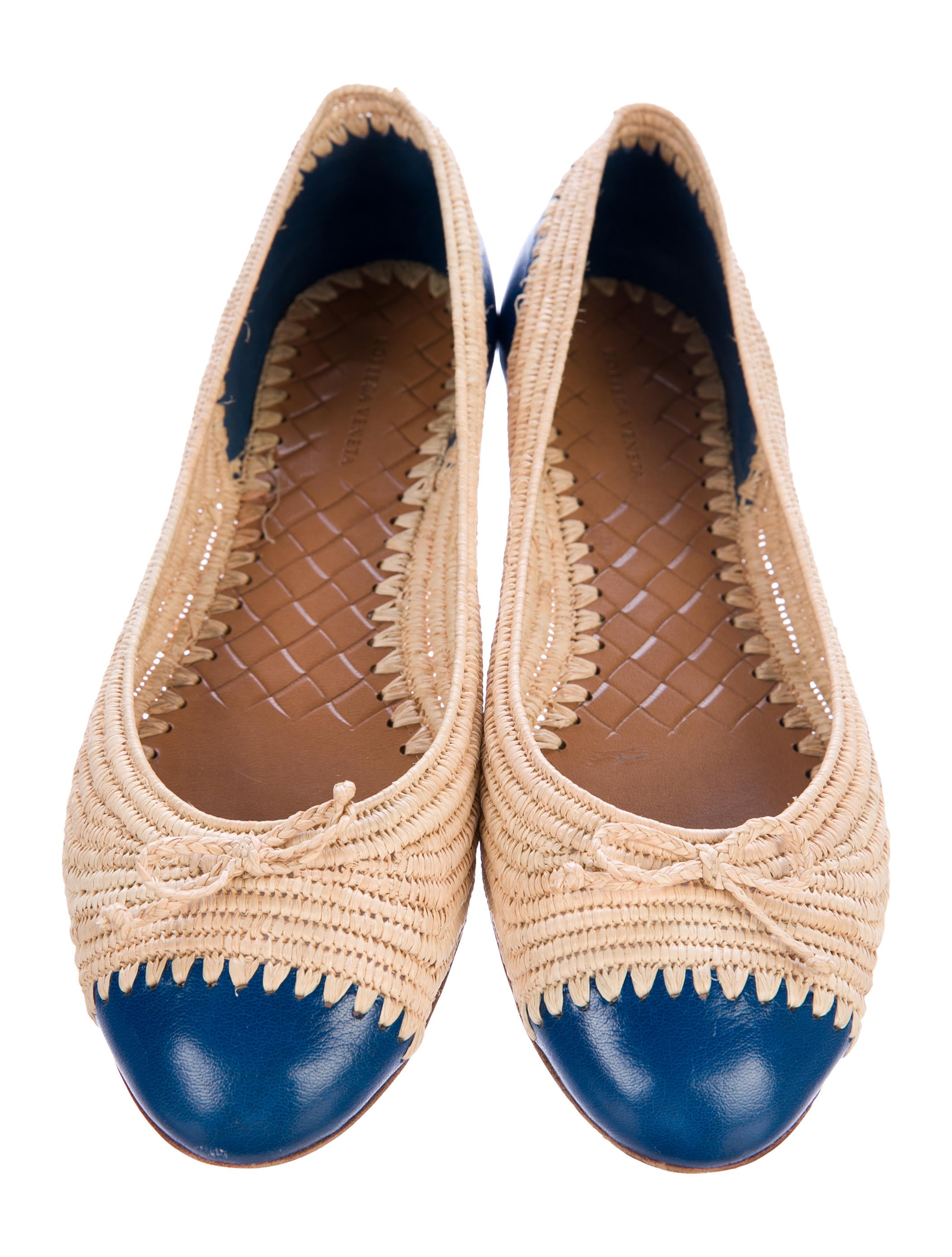 buy online with paypal with credit card online Bottega Veneta Straw Cap-Toe Flats perfect for sale wide range of cheap online discount shop for bGmdrpNhKR