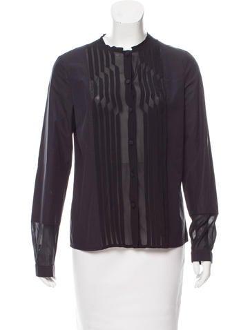 Bottega Veneta Silk Button-Up Top None