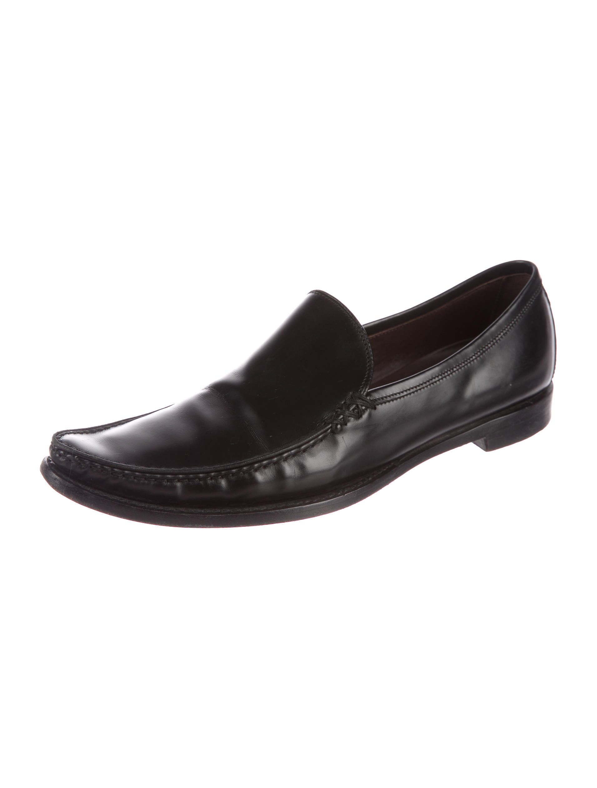 Bottega Veneta Leather Semi Pointed-Toe Loafers online for sale 100% original online clearance store yZcEVb
