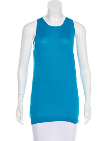 Bottega Veneta Sleeveless Cashmere Top None