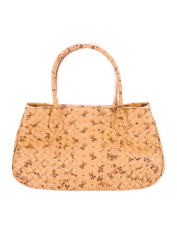 Bottega Veneta Floral Intrecciato Leather Bag None