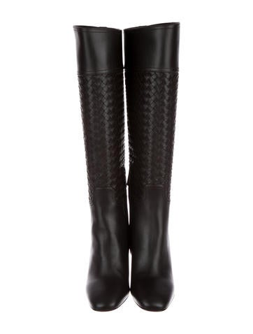 Bottega Veneta Intrecciato Knee-High Boots w/ Tags outlet cheap authentic outlet Manchester cheap fake cheap footlocker finishline i17EgXfeBW