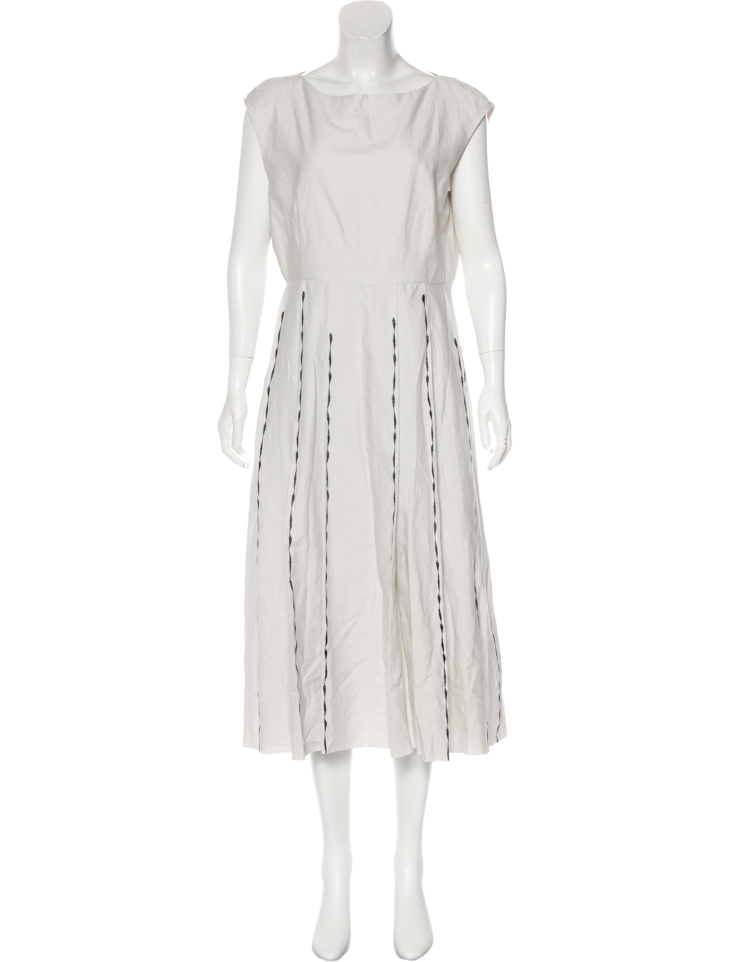 100% Guaranteed Cheap Online Bottega Veneta Linen-Blend Midi Dress w/ Tags Cheap Sale Pick A Best Cheap Price Factory Outlet Clearance Supply w8P6teINF