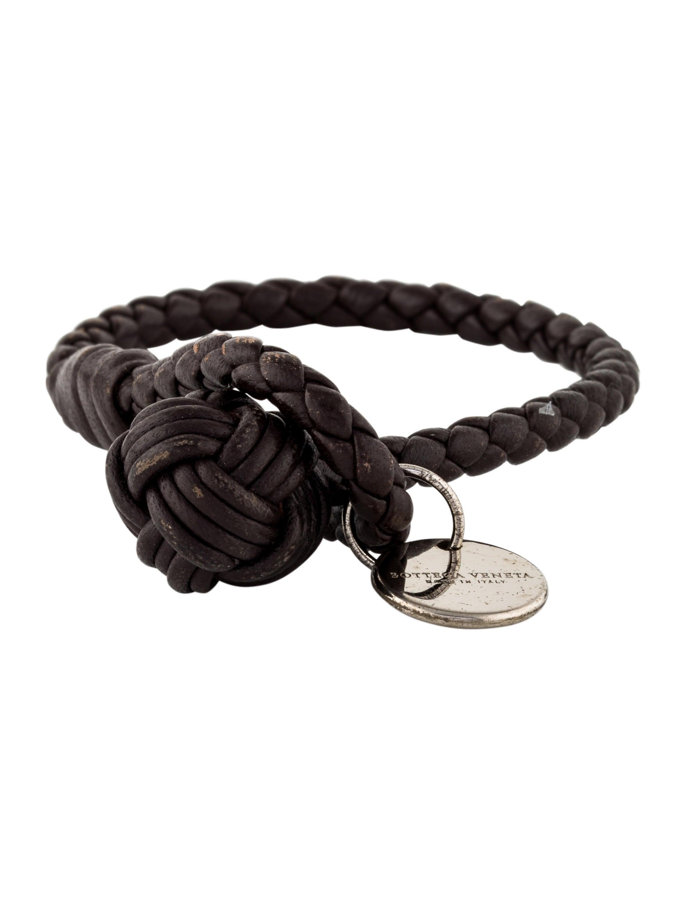 Bottega Veneta Intrecciato Single-Knot Bracelet, Black