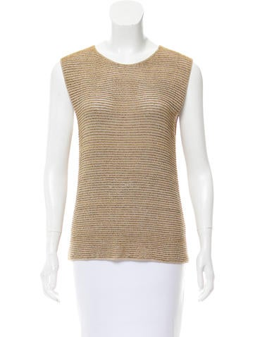 Bottega Veneta Metallic Sleeveless Top None