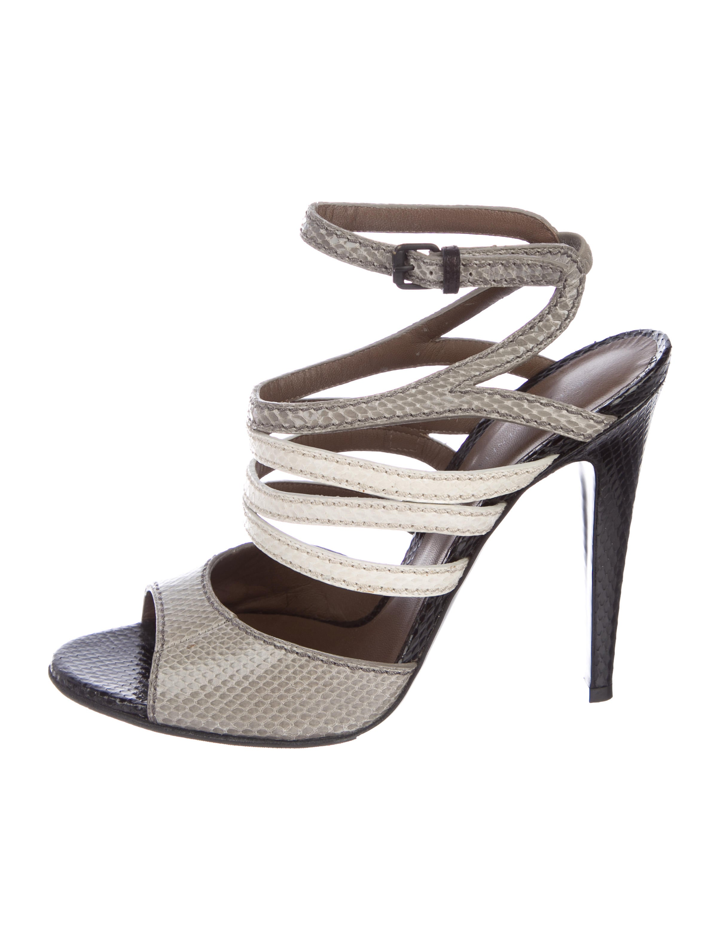 discount best Bottega Veneta Snakeskin Cage Sandals pick a best online discount lowest price cheap price outlet iawLJKza