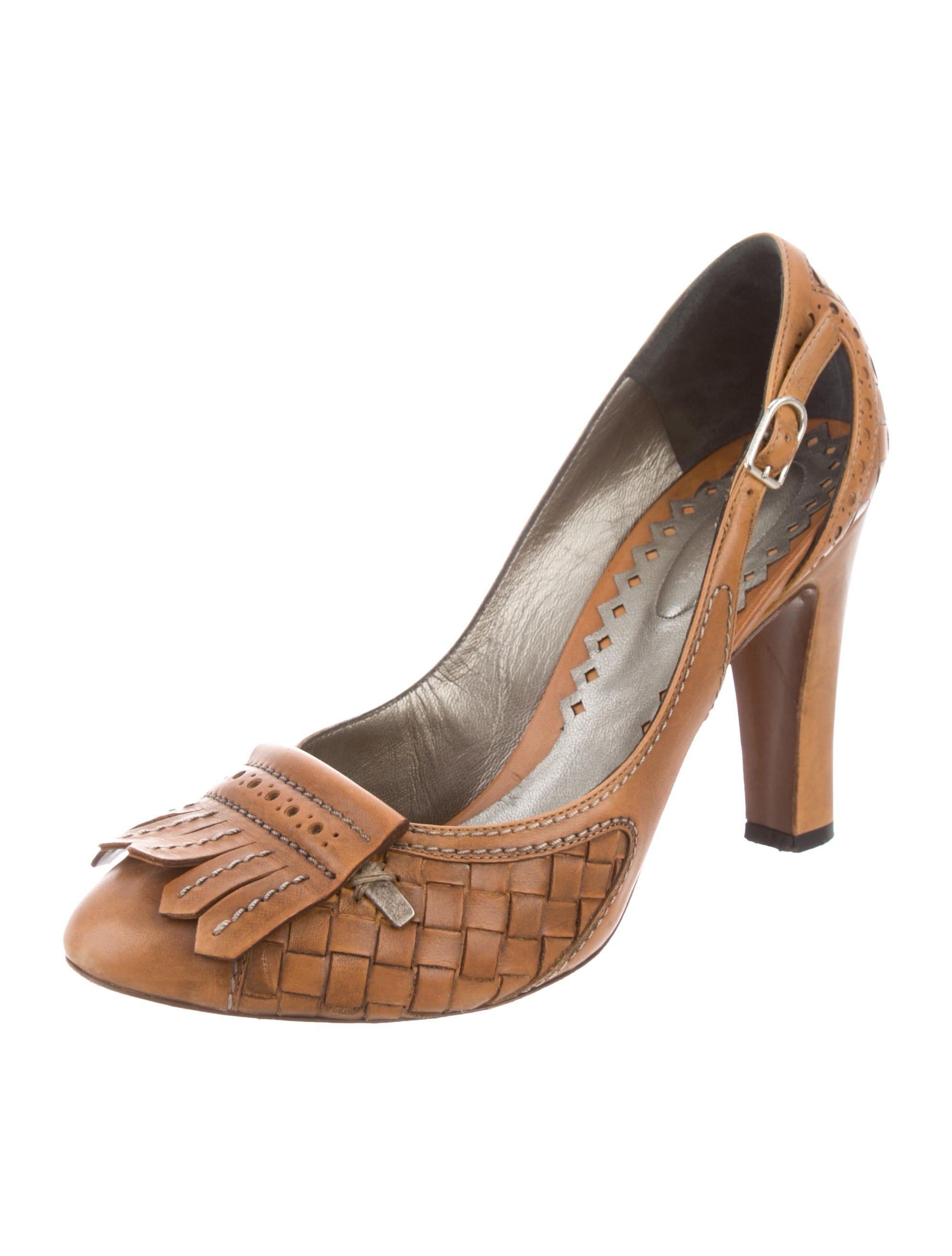 get authentic online free shipping authentic Bottega Veneta Intrecciato Kiltie Pumps pre order cheap price for sale under $60 good selling PK2kI