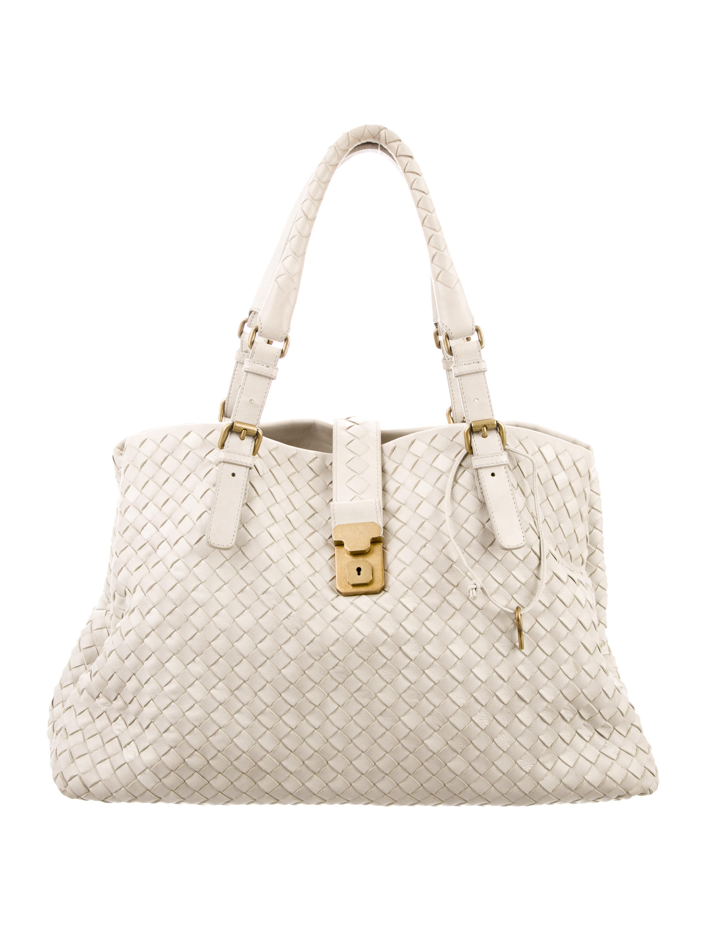 ed8f25a17f Bottega Veneta Medium Intrecciato Roma Bag - Handbags - BOT55534 ...
