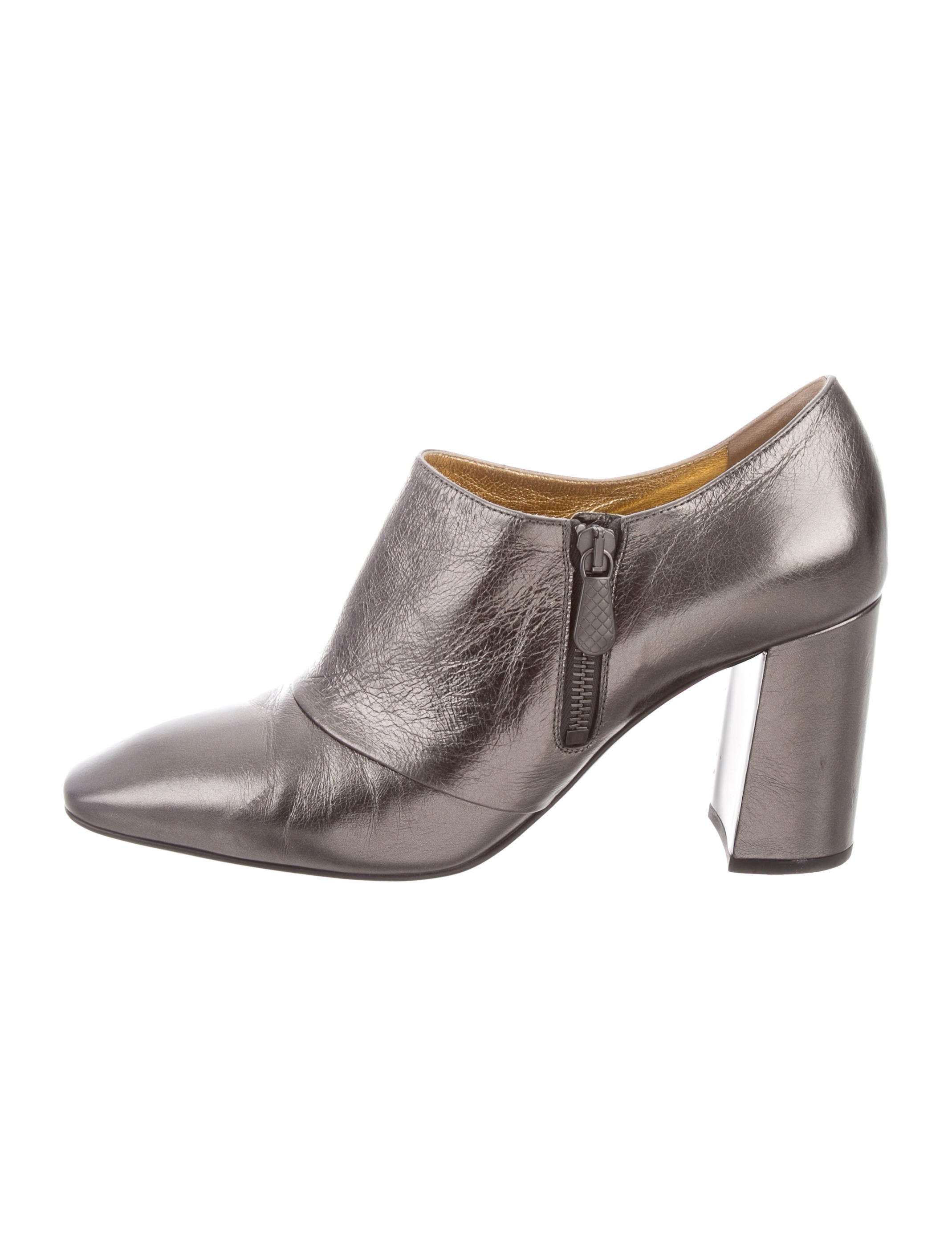 Bottega Veneta Metallic Leather Booties outlet great deals Manchester online wmTAM083