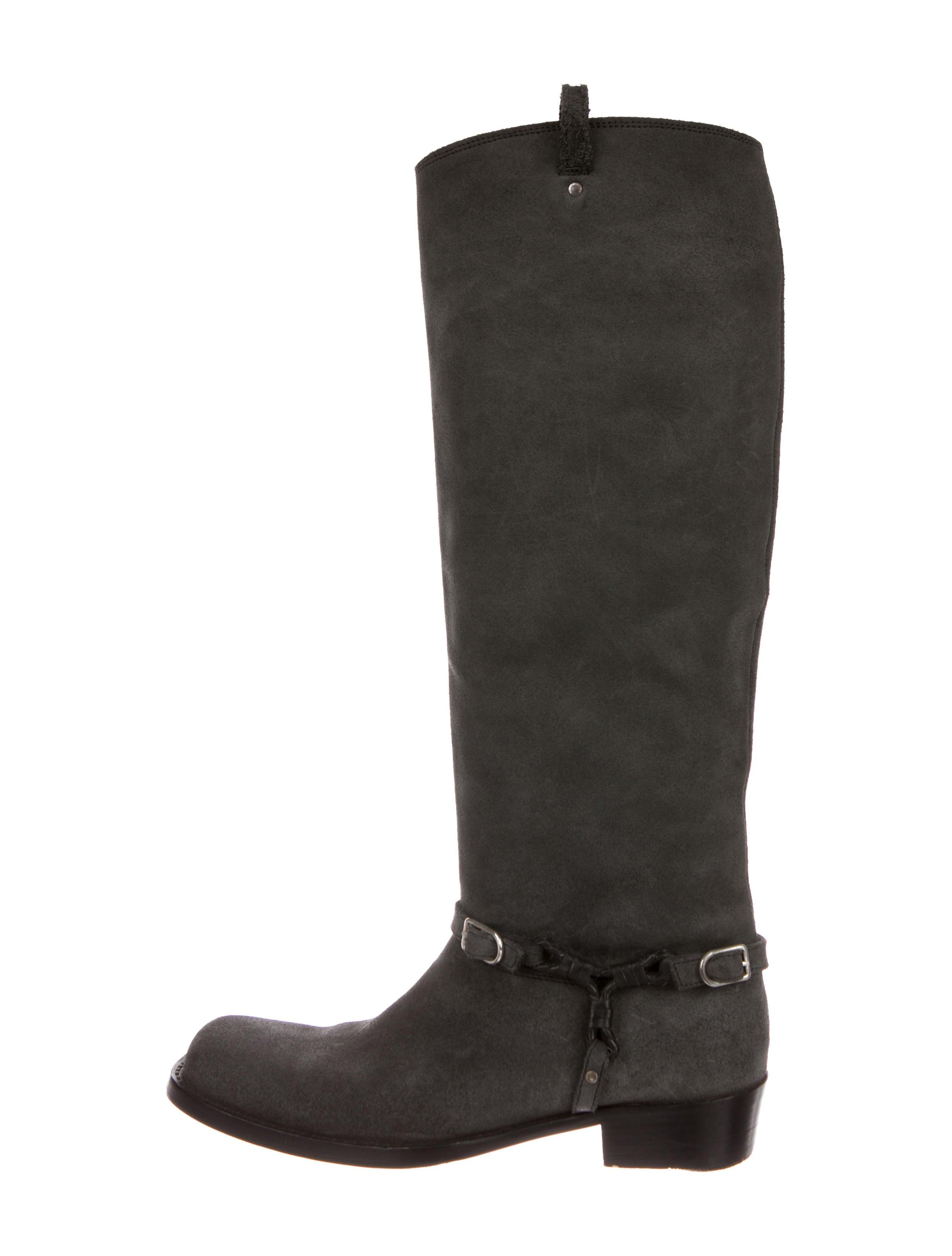 Bottega Veneta Nubuck Square-Toe Boots outlet store cheap online LllDfDGIC