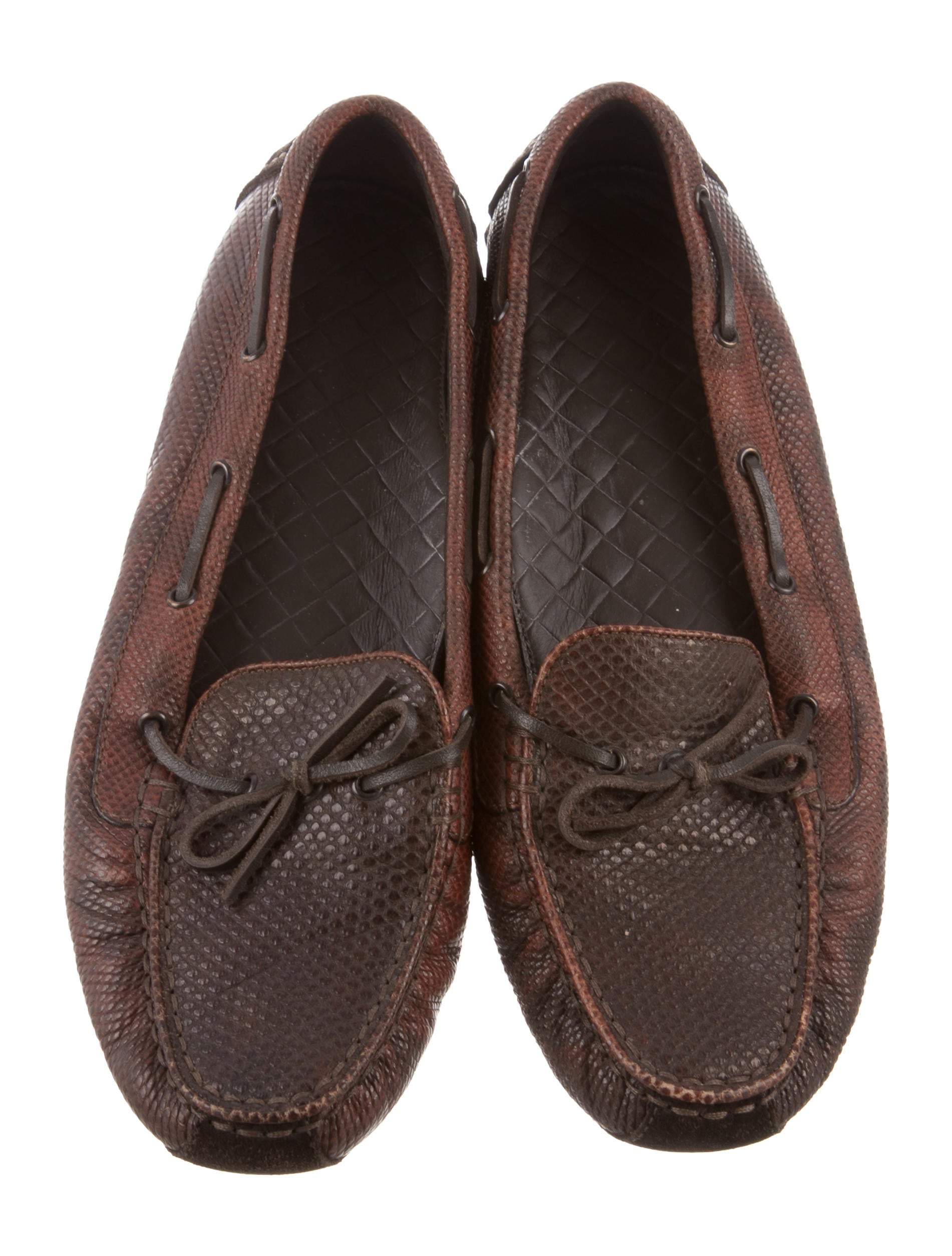 get authentic cheap online Bottega Veneta Lizard Square-Toe Loafers very cheap price footaction cheap online discounts sale online cheap sale best prices WI96KCc