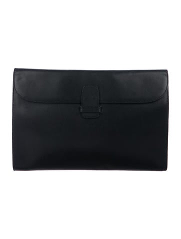 Salvatore Ferragamo Revival Embossed Leather Pouch w  Tags - Bags ... 304c15f8d5a03